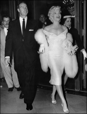 Joe DiMaggio and Marilyn Monroe, 1950s (New York Post)