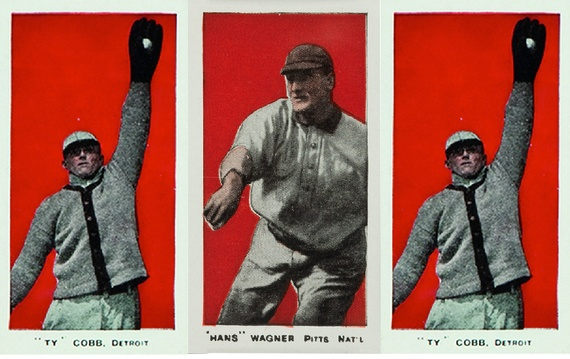 Baseball cards from 1910 (AP)