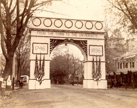 Arch near the Princeton campus, erected 1896 (Princeton University)