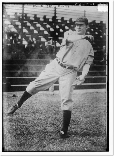 Harry McIntire with the Reds (Wikimedia Commons)