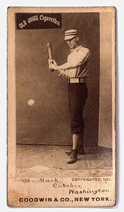 Connie Mack baseball card, 1887 (Wikimedia Commons)