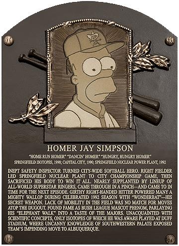 Homer plaque