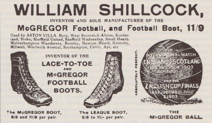 19th century football boots