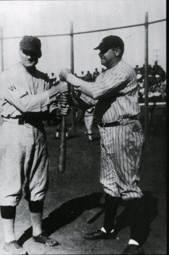 Babe Ruth and Walter Johnson