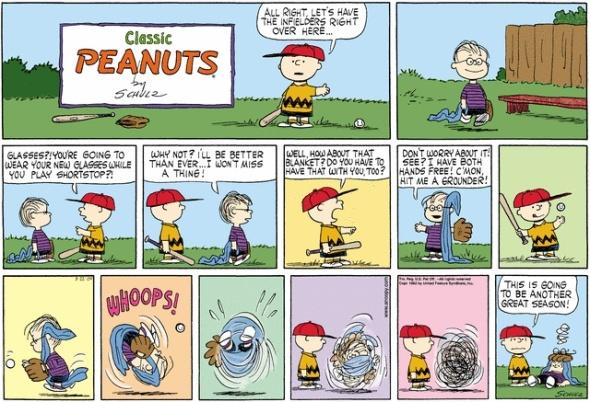 Peanuts baseball infielders