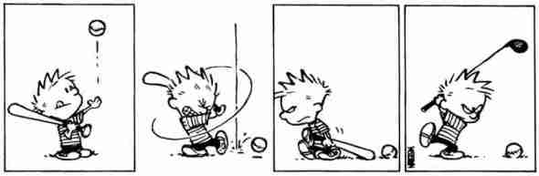 calvin and hobbes baseball golf