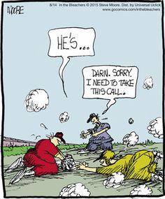 baseball comic humor