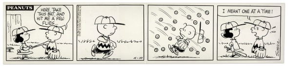 charlie brown baseball flies