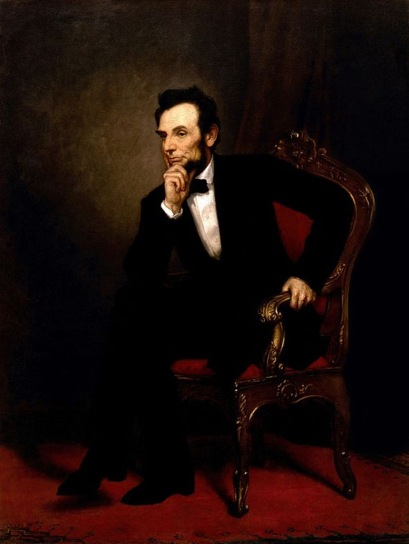 Abraham Lincoln OilPainting1869Restored