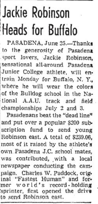 Jackie Robinson AAU track