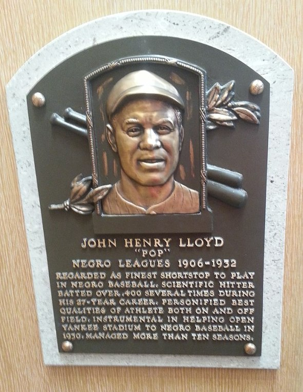 Pop Lloyd plaque HoF