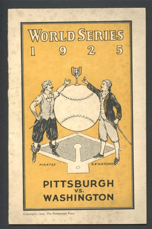 1925 World Series booklet - milehighcardco