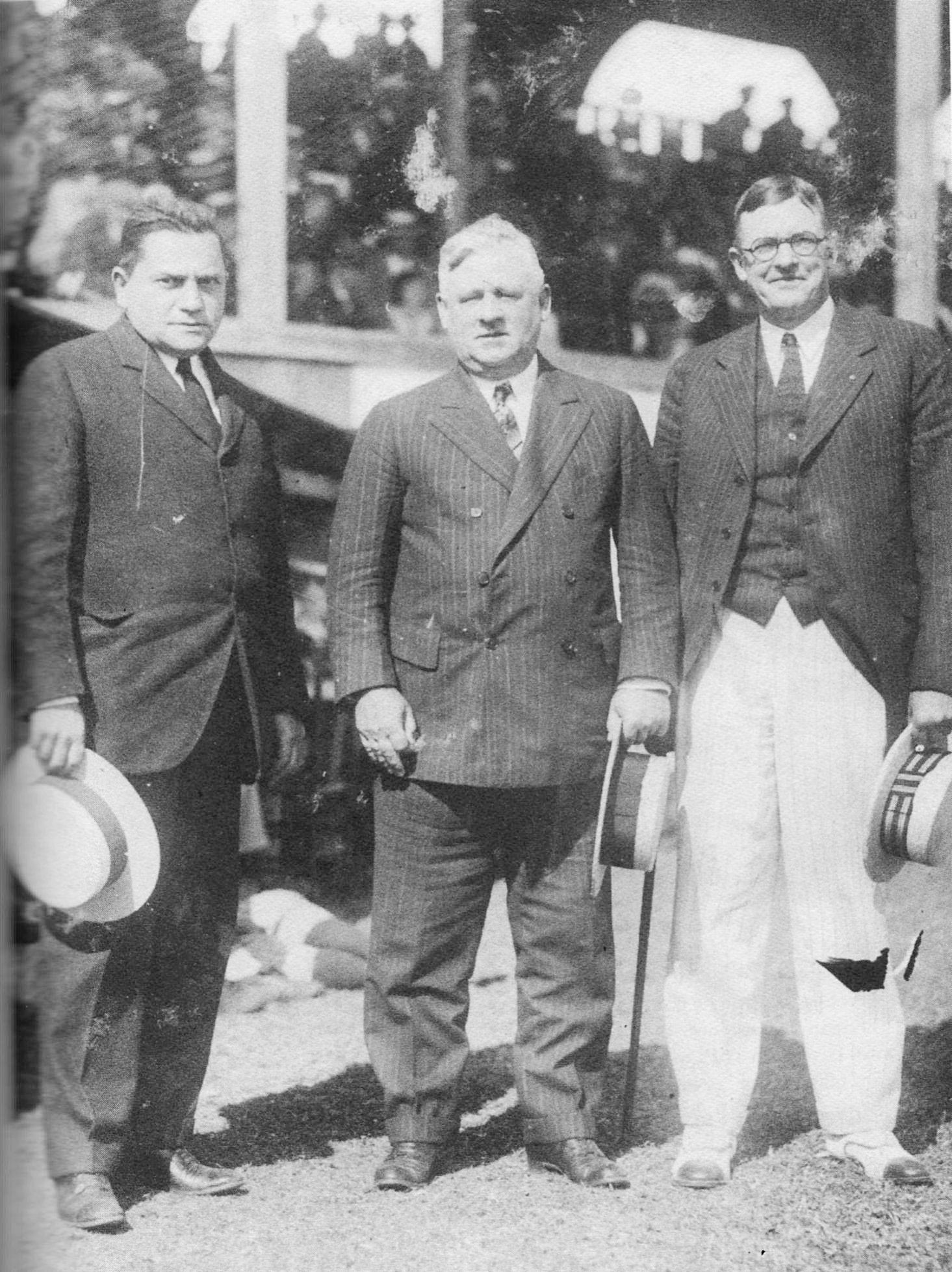 judge fuchs, john mcgraw, christy mathewson