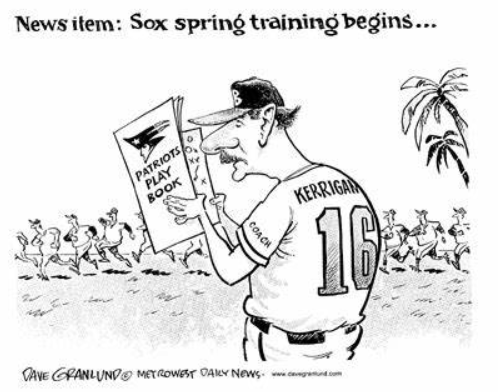 Dave Granlund - Red Sox comic