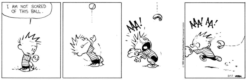 Calvin Hobbes baseball