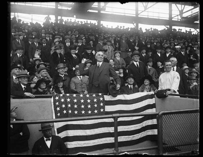 Warren Harding first pitch - LoC
