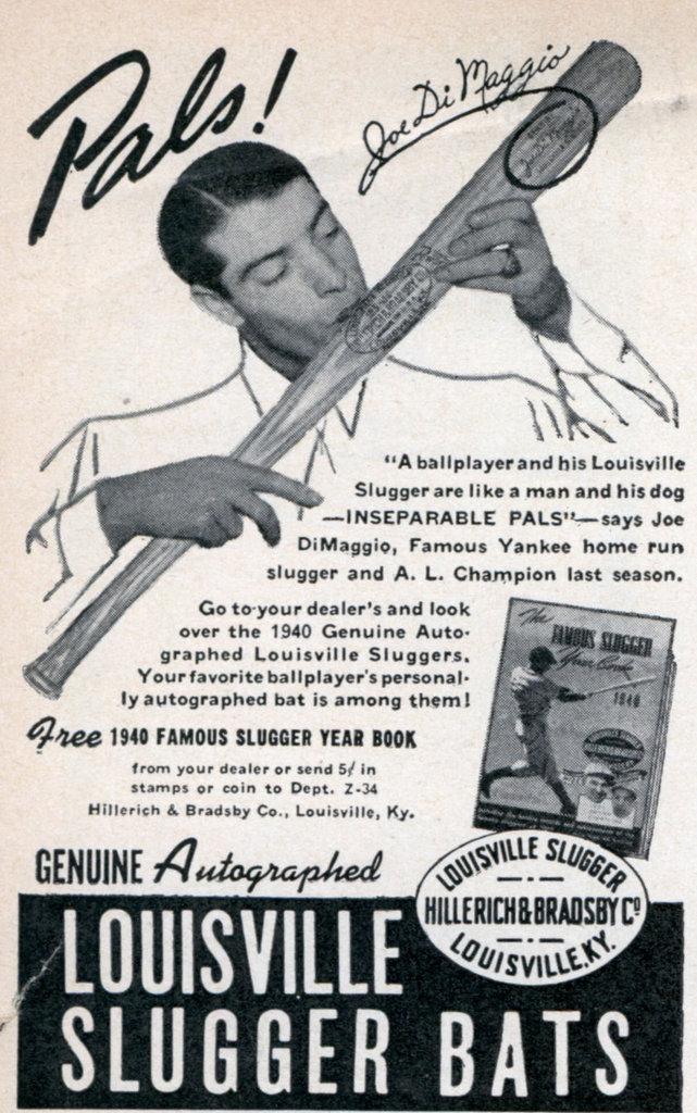Louisville Slugger - Joe DiMaggio - Popular Science